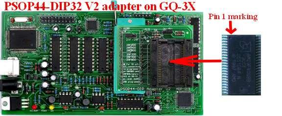 ADP-019 V4.1 PSOP Adaptateur 44-DIP32 29 F 28 F 29LV Convertisseur MX29L3211MC pour GQ-4X