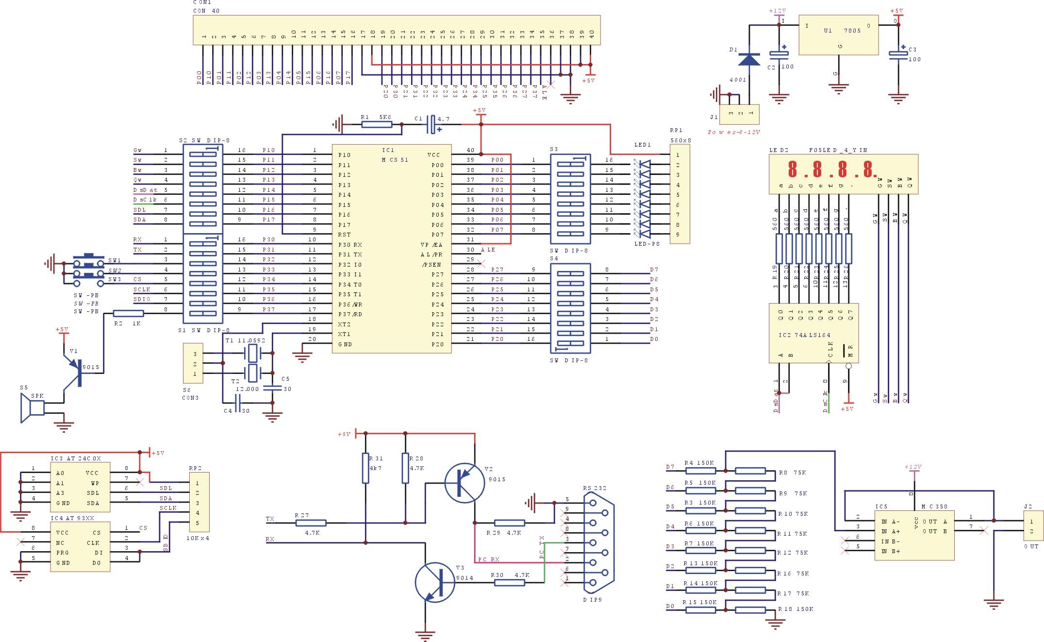 Moremcs51 Led Chasing Circuit Diagram Using At89c2051 By Pdf File Format